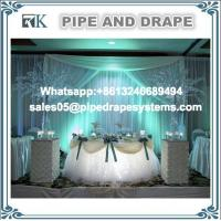 Buy cheap event wedding tent aluminum pipe and drape kit photo trade show booth portable stand pole ceiling drapes from wholesalers
