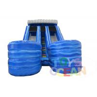 Buy cheap Kids Triple 3 Lanes Inflatable Water Slide Outdoor Water Game With Pool from wholesalers