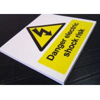 Buy cheap Real Estate Outdoor PVC Sign Board Warning Function White Fire Retardant from wholesalers