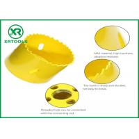 Buy cheap HSS M42 Bi Metal Hole Saw , Yellow Finished Deep Hole Saw For Wood / Aluminum from wholesalers