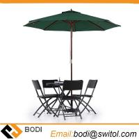 Buy cheap Amazon Ebay Hot Sale Wooden 2.7m Large Patio Table Umbrella Outdoor Cafe Beach Garden Backyard Parasol from wholesalers