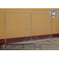 Buy cheap 50*50mm opening size galvanised removable Chain Link tempoary fence from wholesalers