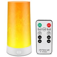 Buy cheap Dimmable Rechargeable Led Magnet Flame Light  Dc 5v Remote Control Flame Table Lamp from wholesalers