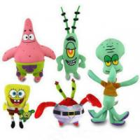 Buy cheap The SpongeBob Family Full Set Cartoon Stuffed Toys , Pink / Green / Red / Yellow from wholesalers