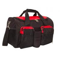 Buy cheap Black 600D Polyester Gym Bag With Shoe Compartment OEM / ODM Acceptable from wholesalers