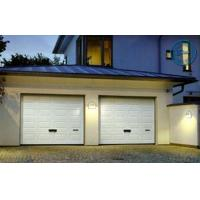 Buy cheap Artistic Brown Overhead Garage Doors Folded With Thermal Insulation from wholesalers