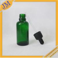 Buy cheap 1oz green glass dropper bottle with black plastic cap from wholesalers