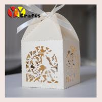 Buy cheap Ivory color wedding favor cake boxes laser cut wedding gifts and decoration box from wholesalers