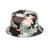 Buy cheap print floral pattern cotton twill stylish costom lable bucket hat from wholesalers
