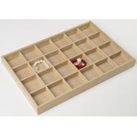 Buy cheap 24 Grids Jewelry Tray Display  Made In Linen For Bracelet and Necklace Display from wholesalers