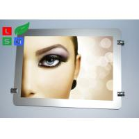 Round Corner LED Light Box Display , Magnetic Photo Light Box With Wire Hanging System