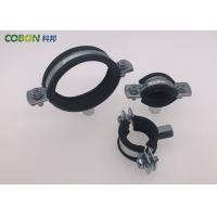 Buy cheap Cast Iron Pipe Clamps Polishing Zinc Plating Steel Pipe Clamps M8+10 Nut ISO9001 from wholesalers