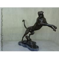 Buy cheap Bronze cheetah sculpture for decoration from wholesalers