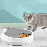 Buy cheap Lithium Battery 5 Meals 1200mA LCD Automatic Pet Feeder from wholesalers