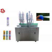 Buy cheap Pneumatic Control Air Freshener Filling Machine , Spray Can Filling Machine from wholesalers
