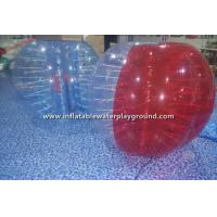 Buy cheap Red / Clear Inflatable Bubble Ball For Humans , Bump Ball Game Bubble Football Suit from wholesalers