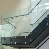 Buy cheap Indoor stainless steel standoff glass balustrade for staircase from wholesalers