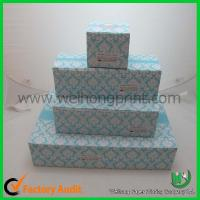 Buy cheap cupcake cake boxes for 1-24 cupcake, standard size,CMYK or Pantong color from wholesalers