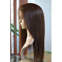 Buy cheap Beautiful Natural Looking Silky Straight Indian Remy Hair Hand Tied Full Lace Wig from wholesalers