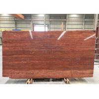 Quality Red Travertine Natural Stone Tiles Countertop Use 20mm Big  Slabs Type for sale