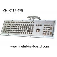 Buy cheap Stainless steel Industrial Computer Keyboard with Trackball , Dust Proof Keyboard from wholesalers