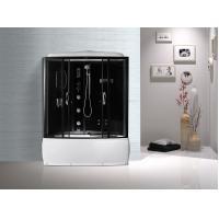 Black  Profiles Enclosed Bath Shower Unit , Complete Shower Stall Kits