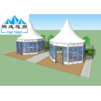 Buy cheap Aluminum Frame White PVC Fireproof / Waterproof Canopy Tent With Transparent For Rental Business from wholesalers
