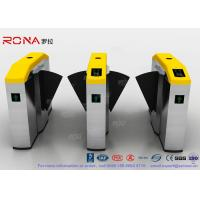 Quality Fingerprint Retractable Flap Wing Barrier Pedestrian Control Flap Barrier Speed for sale