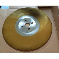 Buy cheap TiN coating HSS circular knife, saw blade for cold cutting of tube and pipe from Wholesalers