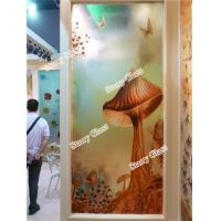 Buy cheap Engraved Decorative  Glass Partition Wall from wholesalers