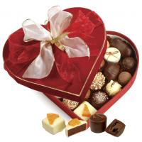 Buy cheap Heart Shaped Red Chocolate Packaging Boxes With Covering Velvet / Butterfly Tie from wholesalers