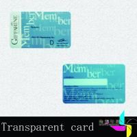 Buy cheap Travel Transparent PVC Card With Magnetic Stripe Offset Printing 0.76mm from wholesalers