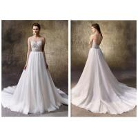 Buy cheap Lady Backless A Line White Dress / Lace Casual Beach Wedding Dresses from wholesalers