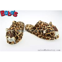 Buy cheap Men Shoes Plush Stuffed Leopard Microwave Flaxseed and Lavender Slipper from wholesalers