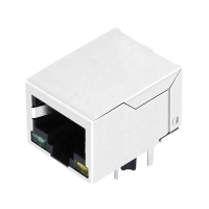Buy cheap 100Base-T 1000Base-T 1x1 8P8C RJ45 Female Connector Length 21.6mm product
