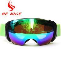 Printed Logo Multi Color Ski Snowboard Goggles , Helmet Compatible Ski Goggles