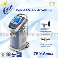 Buy cheap 1064nm / 532nm ND Yag Laser Tattoo Removal Machine , High Energy Dermatology Equipment from wholesalers