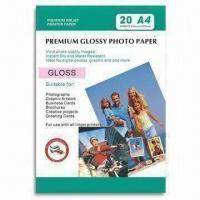 Quality 190gsm Gloss Photo Paper with Instant dry and Water-resistance, Suitable for Inkjet Printer for sale