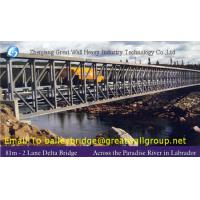 Buy cheap 4.2m Single Lane Modular Steel Bridge, Truss Assembly Steel Bridges,Delta bridge,CB450 from wholesalers