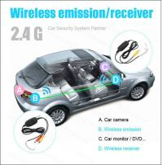 Reverse camera Wireless car camera 2.4G wireless  mini butterfly camera 15mm distance line rear view camera