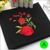 Buy cheap Polyester Embroidered Iron On Patches Appliques With Boutique Rose Flower 19*14 cm from wholesalers