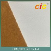 Buy cheap New and Classic Design Polyurethane Leather with Flocking Back in 1.1-1.4mm Thickness from wholesalers