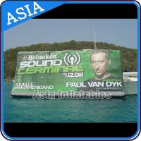 Buy cheap Banner Painting Styple Water Advertising Inflatables Floating Billboard from wholesalers
