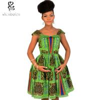 Buy cheap Cute Sleeveless African Print Dresses Batik Printing 100% Cotton Ball Gown from wholesalers
