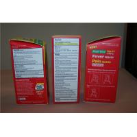 Buy cheap Customized Corrugated Paper Box Packages with Hot Stamping , Red from wholesalers