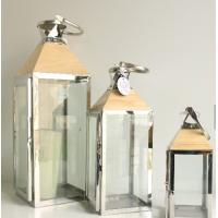 Buy cheap Vintage House Model Christmas Gift Cheap Candle Holder home decoration theme wood stainless steel lantern from wholesalers