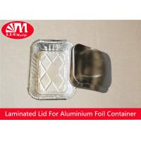Buy cheap Rectangle Foil Tray Lids Aluminium Coated Laminated Paper Board Material from wholesalers