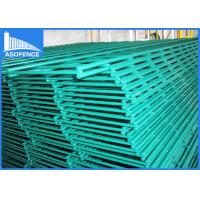 Buy cheap Green Pvc Coated Wire Mesh Fencing , Double Security Wire Fence 2.5m Width from wholesalers