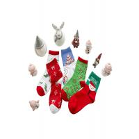 Buy cheap Christmas Decoration Cotton Winter Socks 75% Cotton And 25% Spandex Material from wholesalers