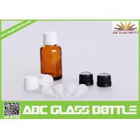 Buy cheap 15ml Amber Glass Dropper Bottles With White Tamper Evident Cap product